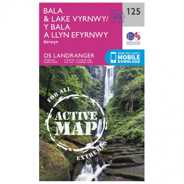 Ordnance Survey - Bala / Lake Vyrnwy / Berwyn Waterproof - Vaelluskartat