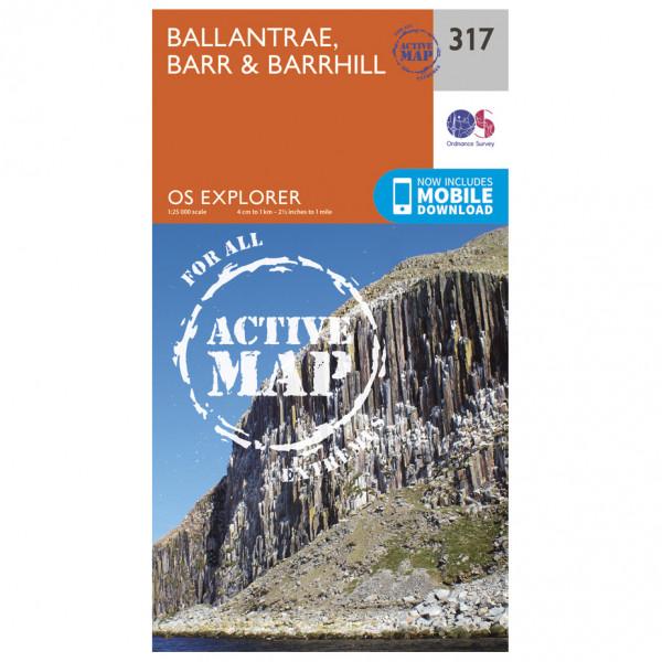 Ordnance Survey - Ballantrae / Barr / Barrhill Waterproof - Vaelluskartat