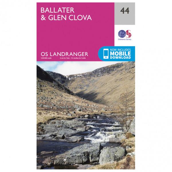 Ordnance Survey - Ballater / Glen Clova - Vandrekort