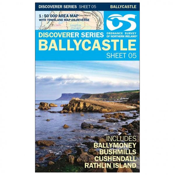 Ordnance Survey - Ballycastle - Vandrekort
