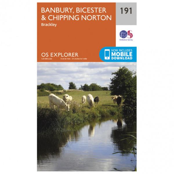Ordnance Survey - Banbury / Bicester / Chipping Norton - Vandrekort
