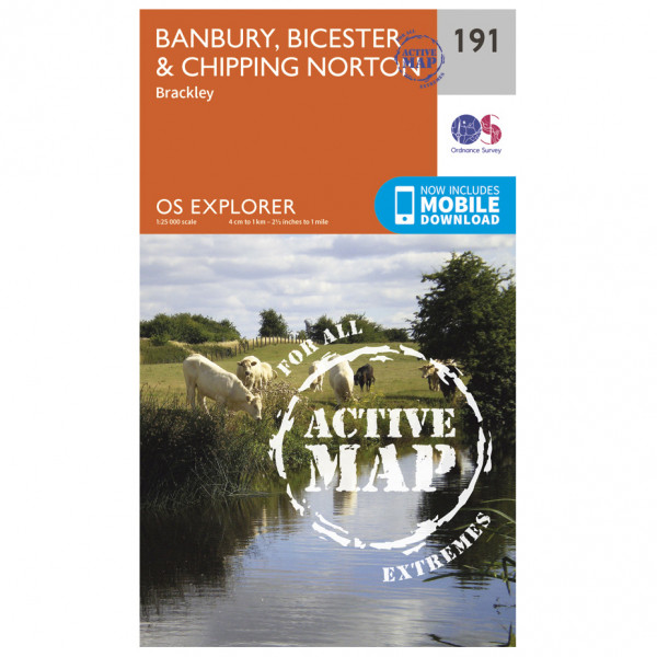Ordnance Survey - Banbury / Bicester / Chipping Norton Waterproof - Wandelkaarten
