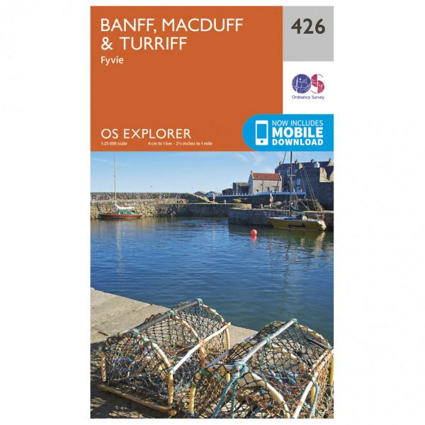 Ordnance Survey - Banff / Macduff / Turriff - Vandrekort