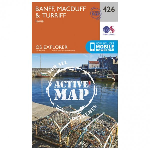 Ordnance Survey - Banff / Macduff / Turriff Waterproof - Vaelluskartat