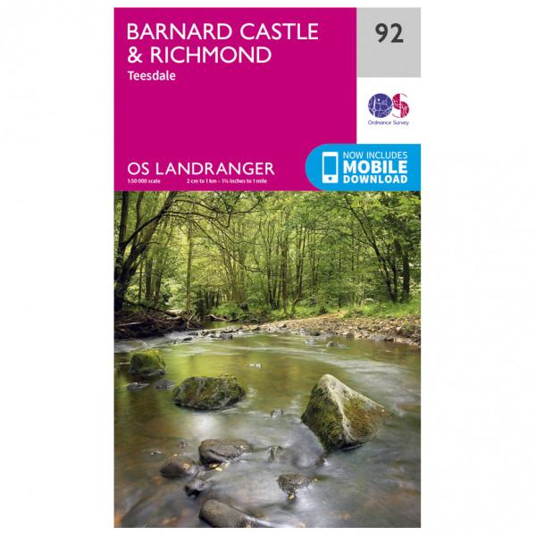 Ordnance Survey - Barnard Castle - Hiking map