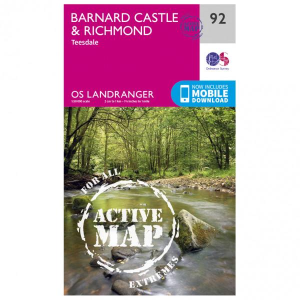 Ordnance Survey - Barnard Castle Waterproof - Wandelkaart