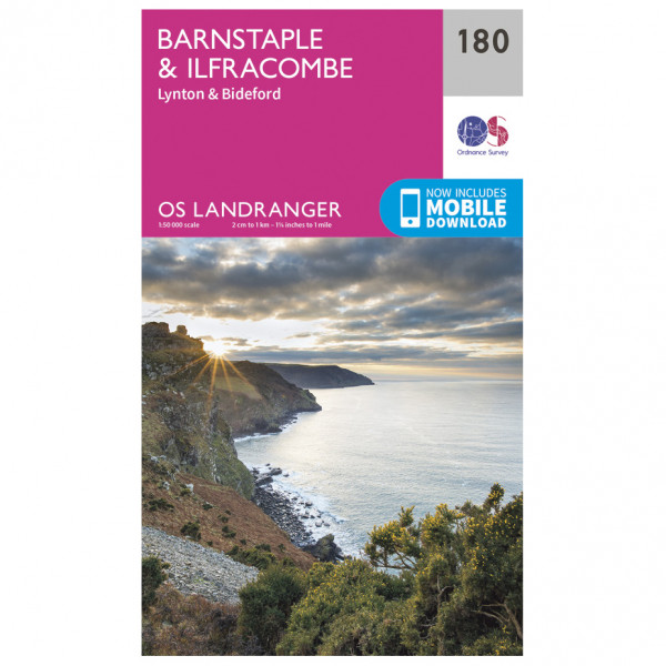 Ordnance Survey - Barnstable / Ilfracombe - Vandrekort