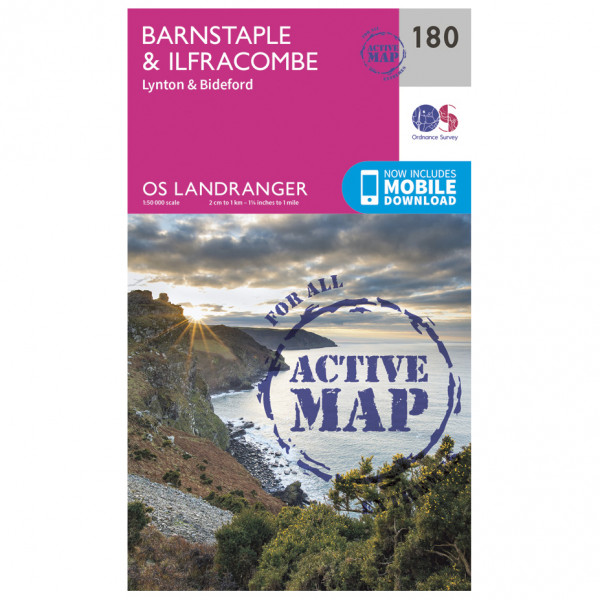 Ordnance Survey - Barnstaple / Ilfracombe / Lynton Waterproof - Vandringskartor
