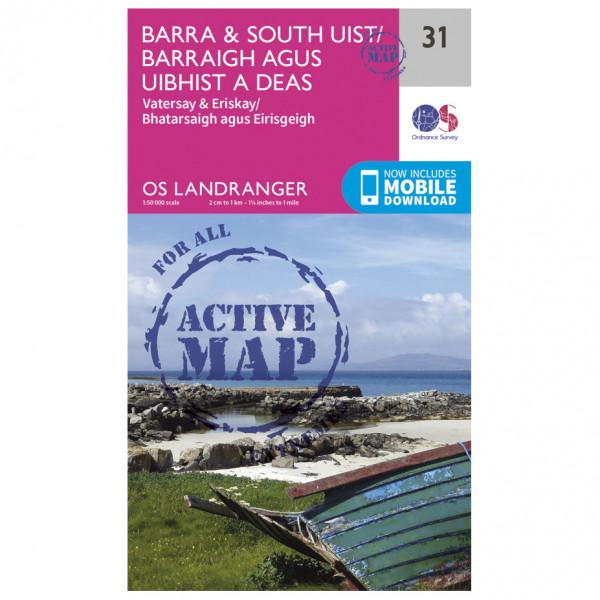 Ordnance Survey - Barra / South Uist Waterproof - Hiking map