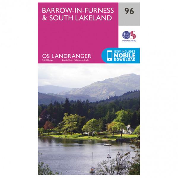 Ordnance Survey - Barrow-In-Furness / South Lakeland - Hiking map
