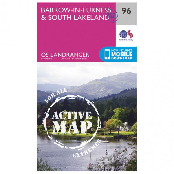 Ordnance Survey - Barrow-In-Furness / South Lakeland Waterproof - Hiking map