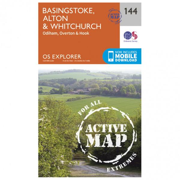 Ordnance Survey - Basingstoke / Alton / Whitchurch Waterproof - Carte de randonnée