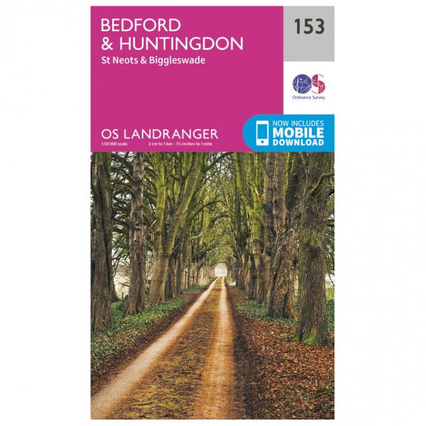 Ordnance Survey - Bedford / Huntingdon / St-Neots / Biggleswade L153 - Wanderkarte