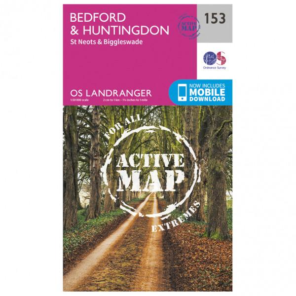 Ordnance Survey - Bedford / Huntingdon Waterproof - Vandringskartor