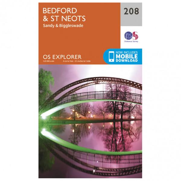 Ordnance Survey - Bedford / St Neots - Vaelluskartat