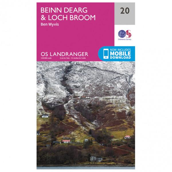 Ordnance Survey - Beinn Dearg / Loch Broom (Ben Wyvis) - Wandelkaart