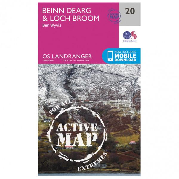 Ordnance Survey - Beinn Dearg / Loch Broom (Ben Wyvis) Waterproof - Hiking map