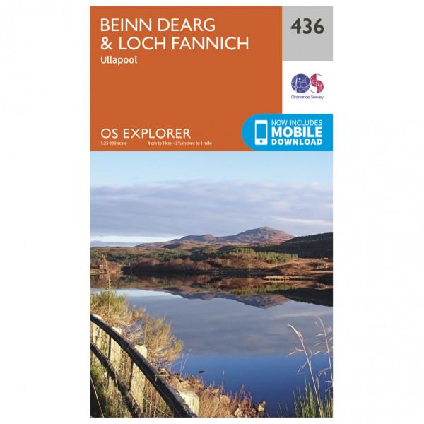 Ordnance Survey - Beinn Dearg / Loch Fannich - Hiking map