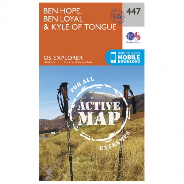 Ordnance Survey - Ben Hope / Ben Loyal / Kyle Of Tongue Waterproof - Hiking map