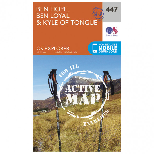Ordnance Survey - Ben Hope / Ben Loyal / Kyle Of Tongue Waterproof - Vaelluskartat