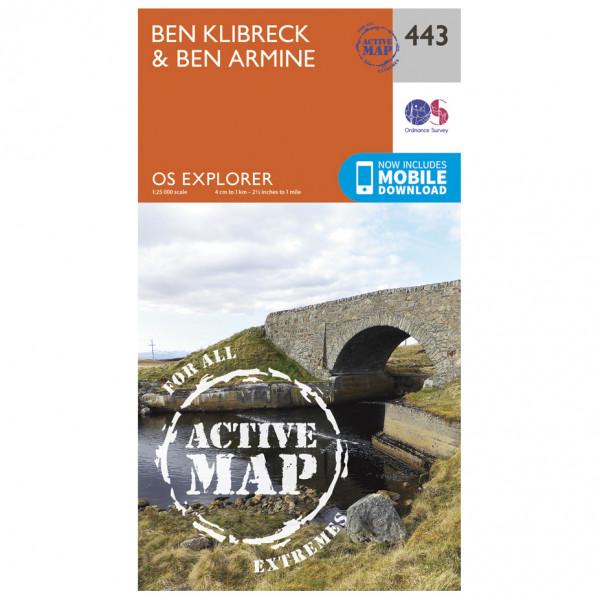 Ordnance Survey - Ben Klibreck / Ben Armine Waterproof - Hiking map