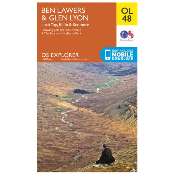 Ordnance Survey - Ben Lawers / Glen Lyon / Loch Tay Outdoor - Vandrekort