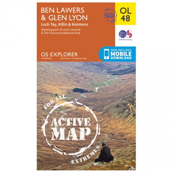 Ordnance Survey - Ben Lawers / Glen Lyon Waterproof - Hiking map
