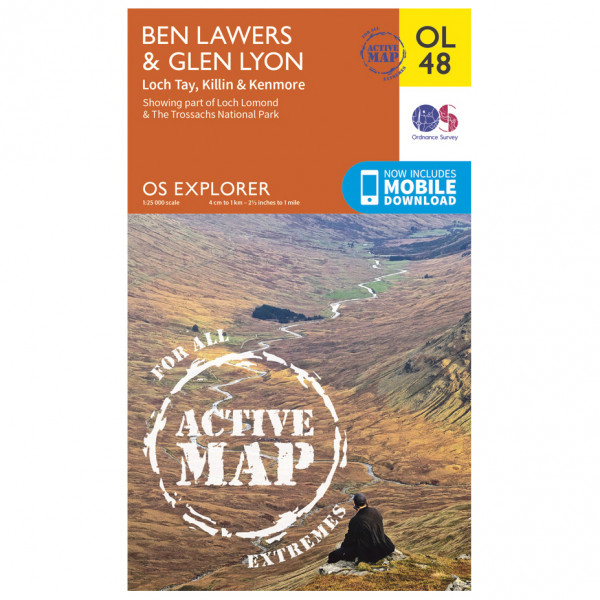 Ordnance Survey - Ben Lawers / Glen Lyon Waterproof - Wandelkaart