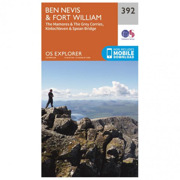 Ordnance Survey - Ben Nevis / Fort William EXP392 - Wanderkarte