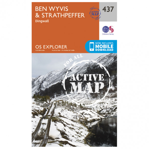 Ordnance Survey - Ben Wyvis / Strathpeffer Waterproof - Hiking map