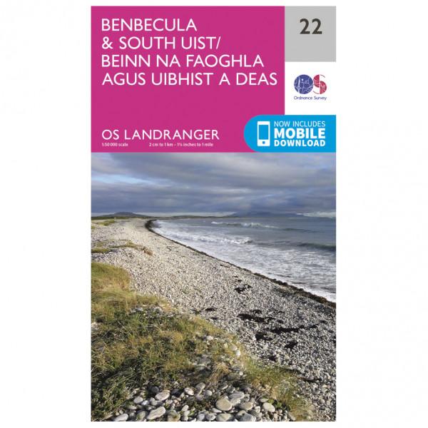 Ordnance Survey - Benbecula / South Uist L022 - Wanderkarte