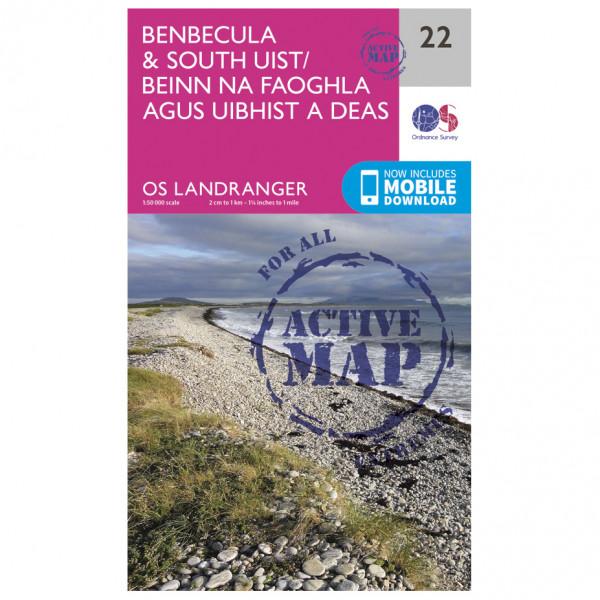Ordnance Survey - Benbecula / South Uist Waterproof - Wandelkaart