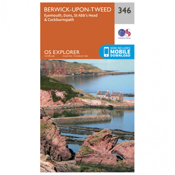 Ordnance Survey - Berwick-Upon-Tweed Explorer - Vandringskartor