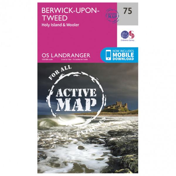 Ordnance Survey - Berwick-Upon-Tweed Waterproof - Carte de randonnée