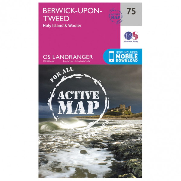 Ordnance Survey - Berwick-Upon-Tweed Waterproof - Wandelkaart