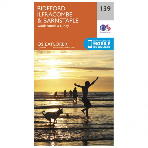 Ordnance Survey - Bideford / Ilfracombe / Barnstaple - Vandrekort