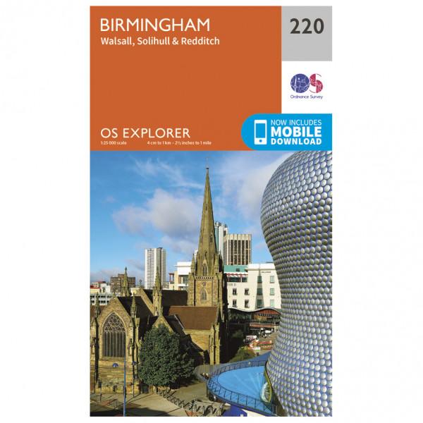 Ordnance Survey - Birmingham - Hiking map
