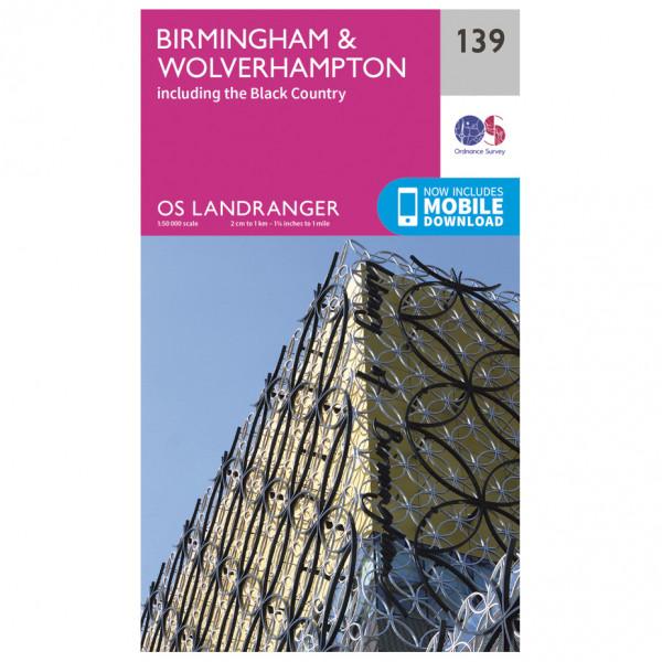 Ordnance Survey - Birmingham / Wolverhampton - Vandringskartor