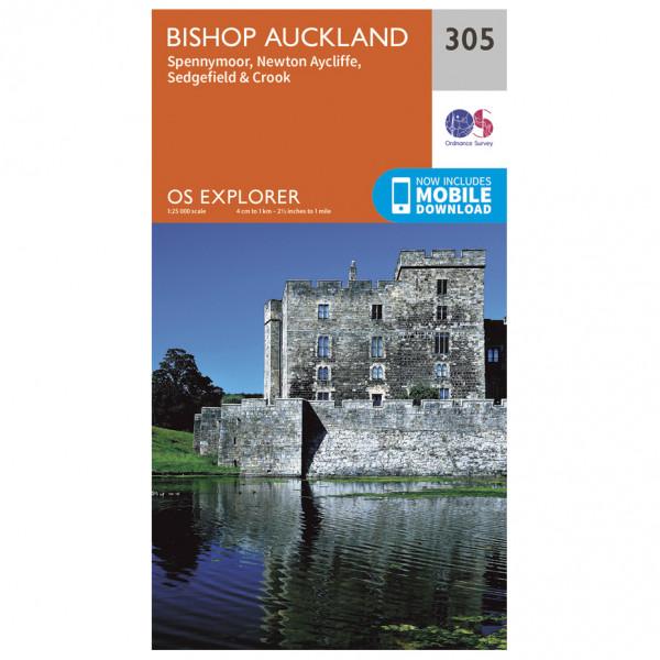 Ordnance Survey - Bishop Auckland - Vandringskartor