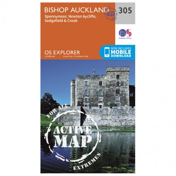 Ordnance Survey - Bishop Auckland Waterproof - Vaelluskartat