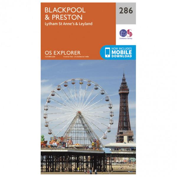 Ordnance Survey - Blackpool / Preston - Vaelluskartat