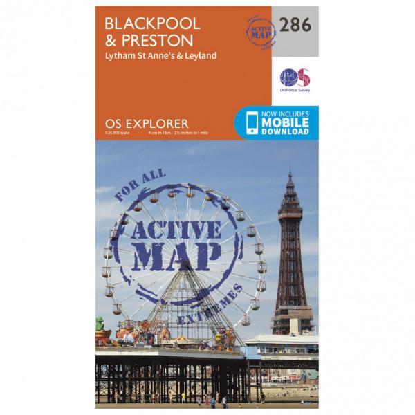 Ordnance Survey - Blackpool / Preston Waterproof - Vaelluskartat