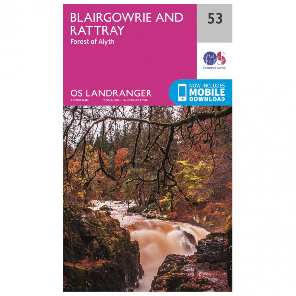 Ordnance Survey - Blairgowrie / Forest Of Alyth - Hiking map