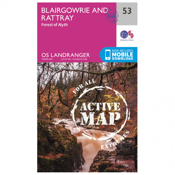 Ordnance Survey - Blairgowrie / Forest Of Alyth Waterproof - Hiking map