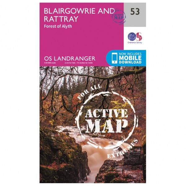 Ordnance Survey - Blairgowrie / Forest Of Alyth Waterproof - Vaelluskartat