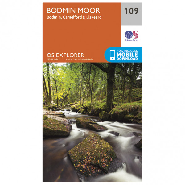 Ordnance Survey - Bodmin Moor - Hiking map