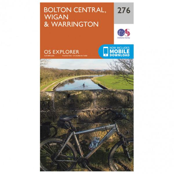 Ordnance Survey - Bolton / Wigan / Warrington EXP276 - Wanderkarte