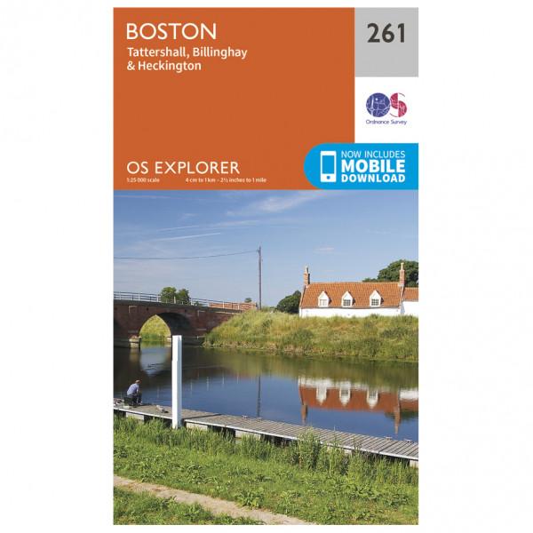 Ordnance Survey - Boston - Vandrekort