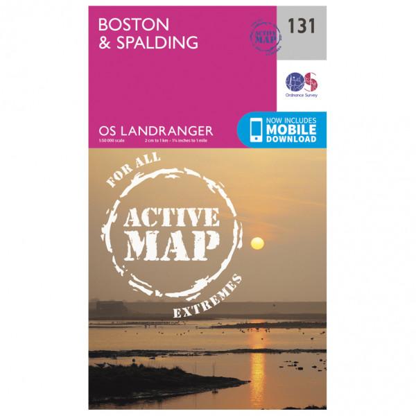 Ordnance Survey - Boston / Spalding Waterproof - Hiking map
