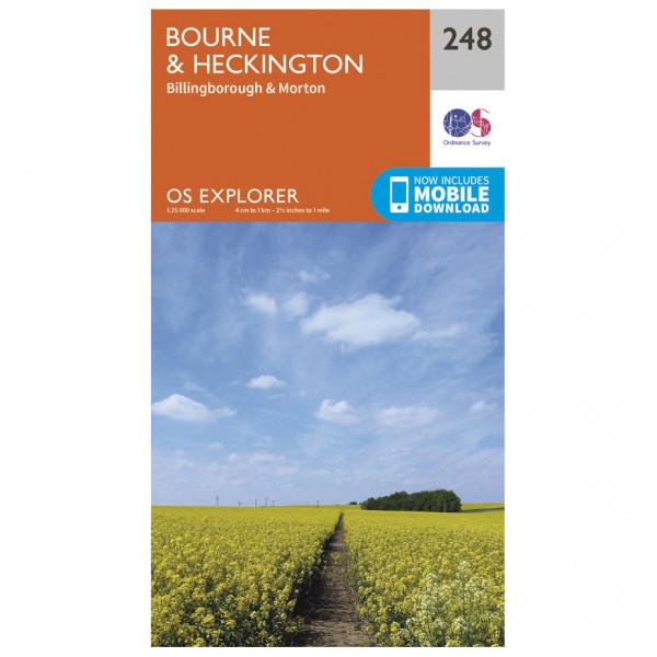 Ordnance Survey - Bourne / Heckington EXP248 - Wanderkarte
